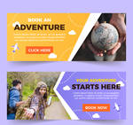 2 Creative Travel Promotion Banner Vector