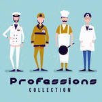4 Creative Professional Men Vector Material