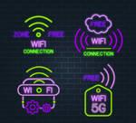 4 Purple Wireless Network Logo Vector Material