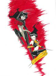 Lady Deathstrike Vs X-23
