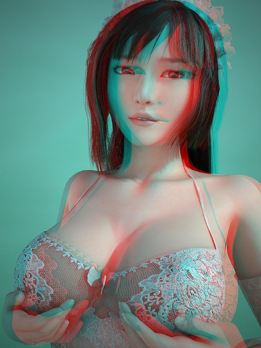 red blue 3d porn
