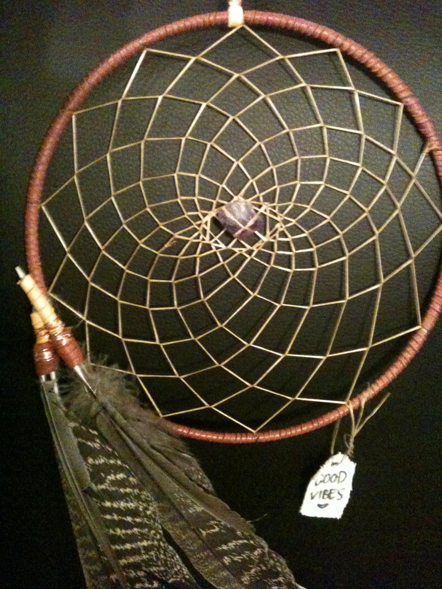 Amethyst wire wrapped dreamcatcher by goodvibesforsale on for What do dreamcatchers do