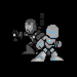 Superior Iron Man and War Machine MK II Sprites