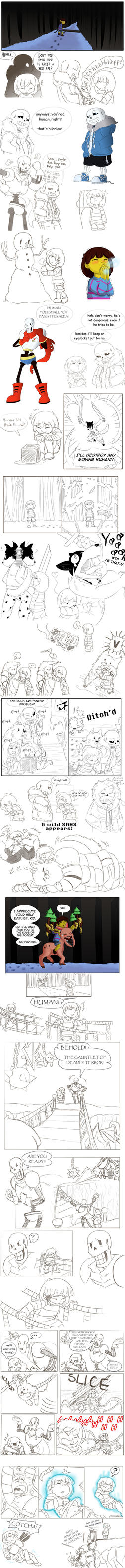 Undertale Dump: Snowdin (Part 1) by Episodic89