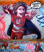 Mural Superheroes by koolkiz