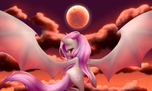 Flutterbat in the [Blood]Moonlight : Redraw