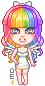 rainbow hair by sira16inu