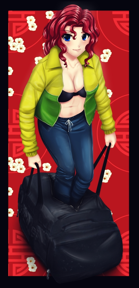 Bag girl (Commission) by AngeroX