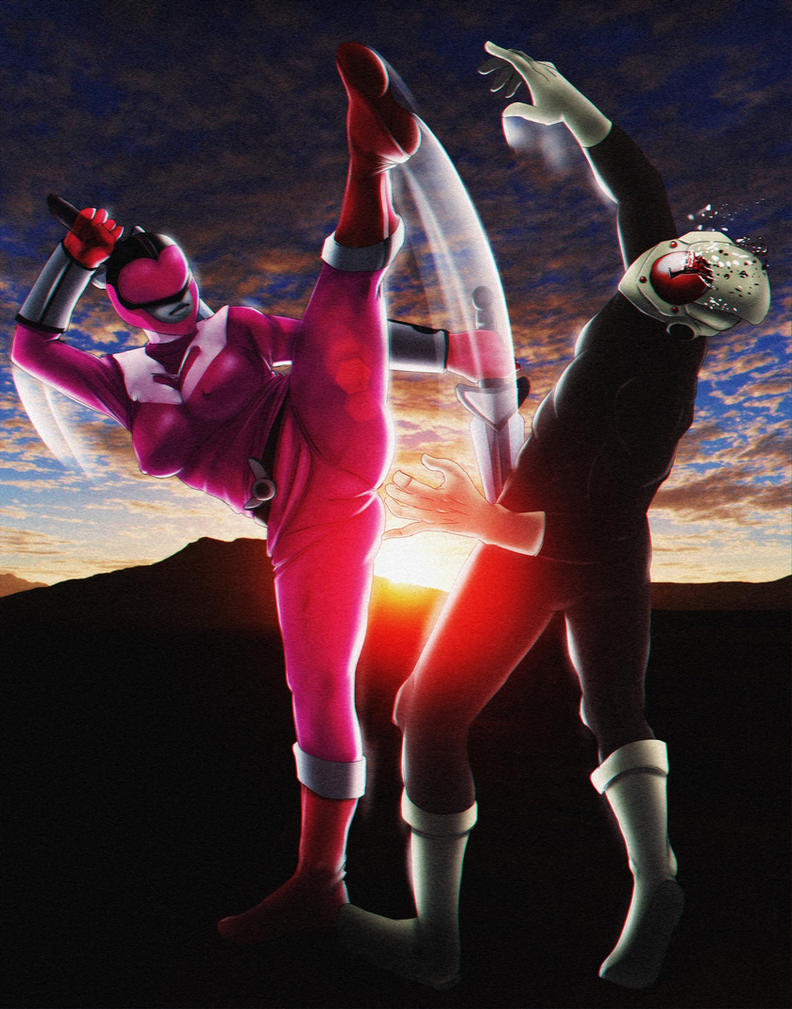 Jen Scotts Pink Time Force Ranger 2-? (Commission) by AngeroX