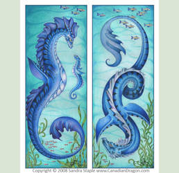 New Mother and Proud Father -Sea Serpents 2008 by canadiandragon
