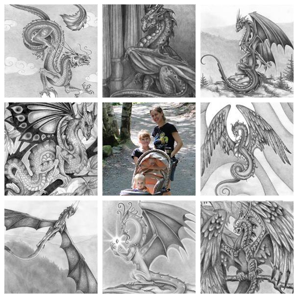 Art VS Artist #1 Dragon Graphite Pencil Work