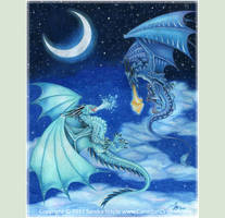 Battle for the Night Skies 3 Dragons Fighting 2017