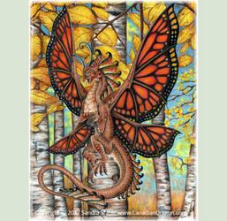 Autumn Wings -Monarch Fairy Dragon 2017