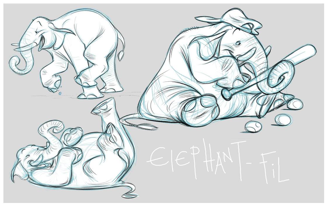 elephant fil by ahmettabak