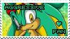 Aggressive the Hedgehog Stamp by Karmarsi-Kedamoki