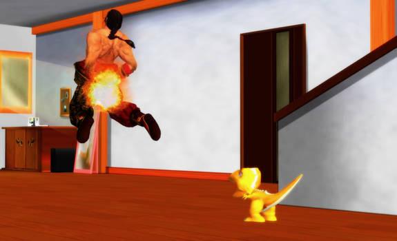 Fire Attack by LarsJunFan