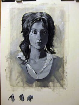 Female portrait in Gouache
