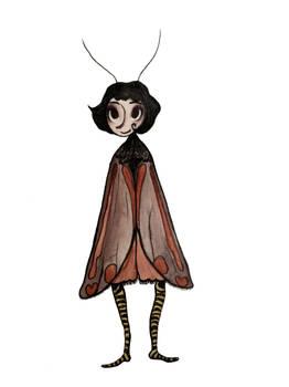 The Cinnabar moth lady
