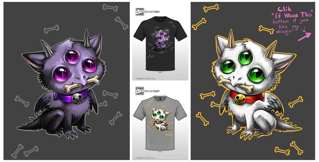 Cute Monster Shirt Design by Firell