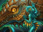 tamed reptile