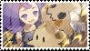 Dream League Acerola and Mimikyu Stamp by VathekFiend