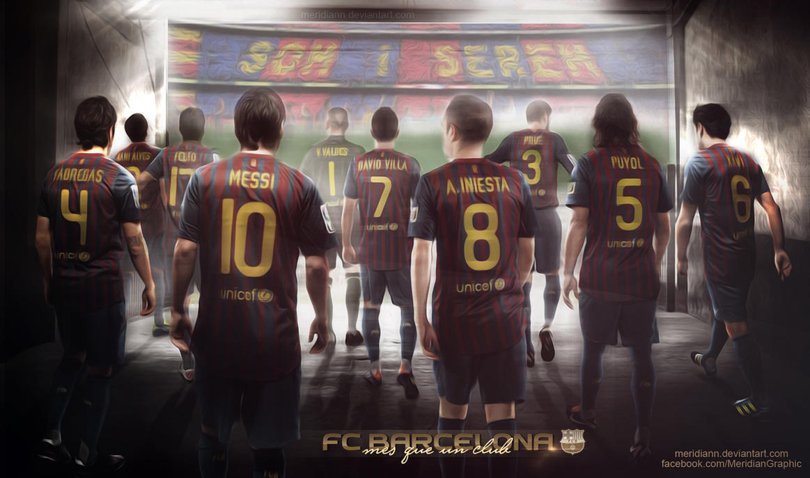 FC  BARCELONA Wallpaper by Meridiann