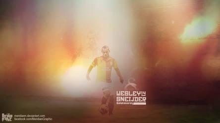 Wesley Sneijder by Meridiann