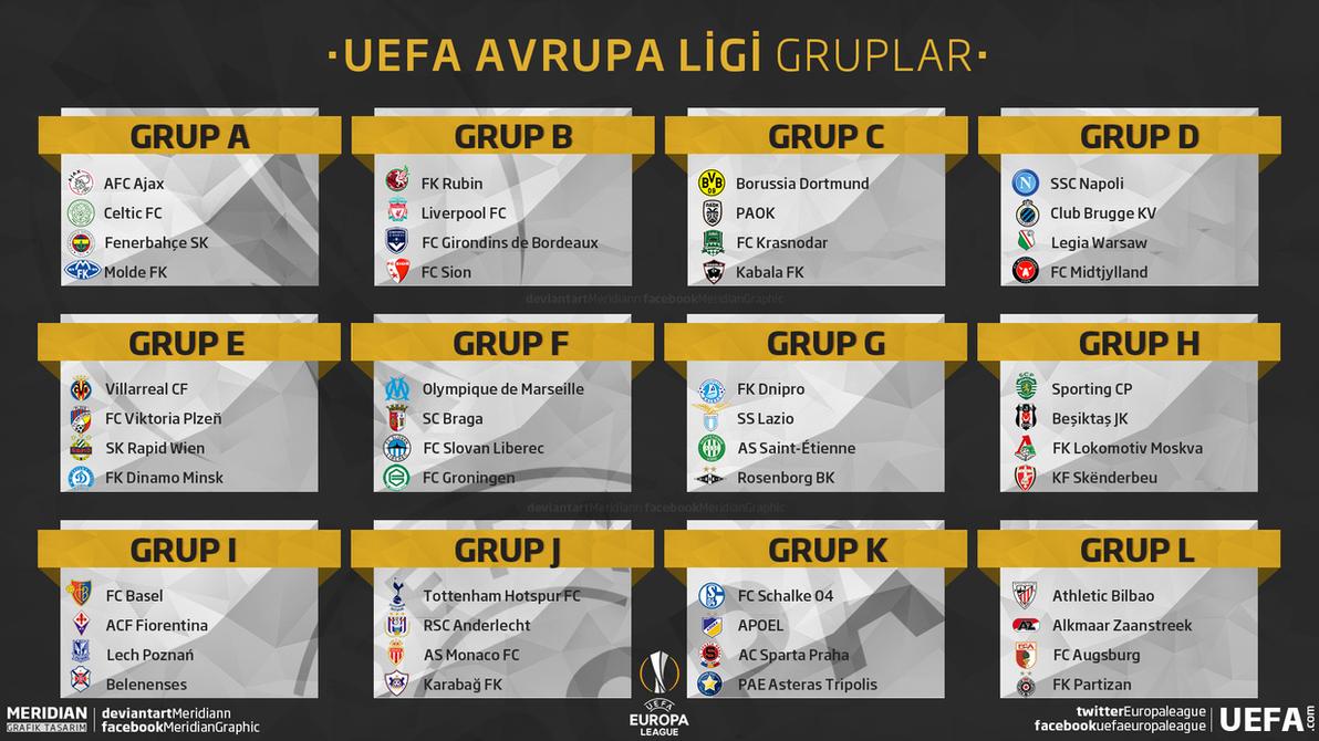 UEFA Avrupa Ligi Gruplar By Meridiann On DeviantArt