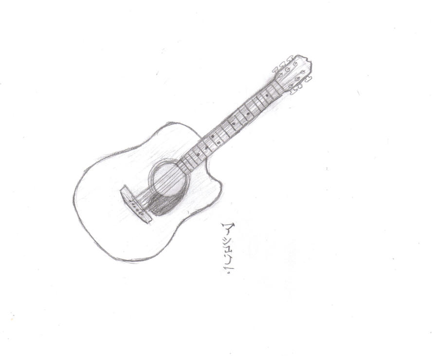 guitar sketch by jesus33chick on deviantart
