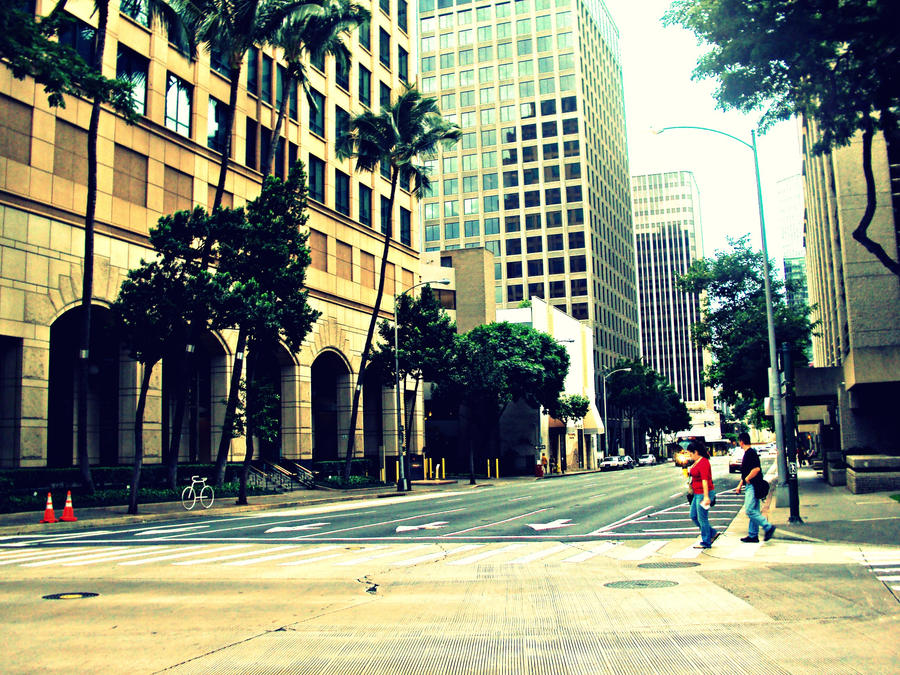 Downtown Honolulu by jesus33chick