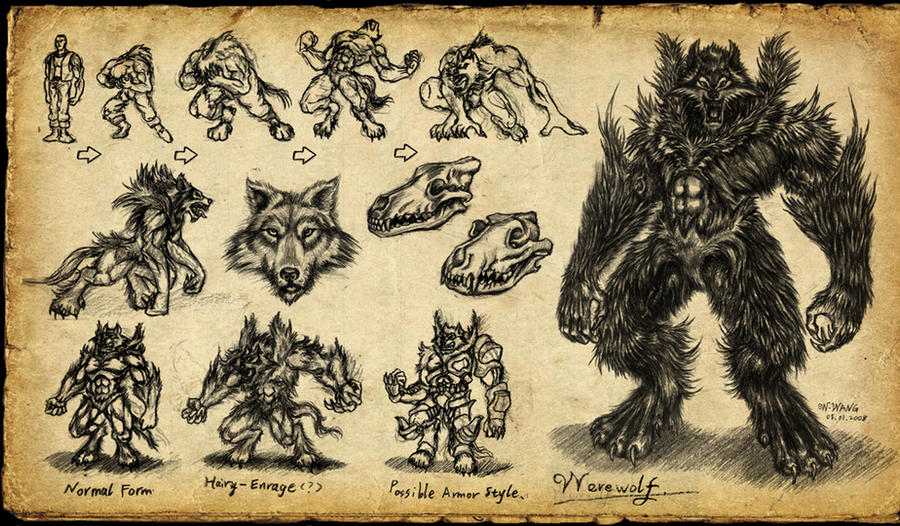 Vukodlak-transformacija Werewolf_by_GP03D
