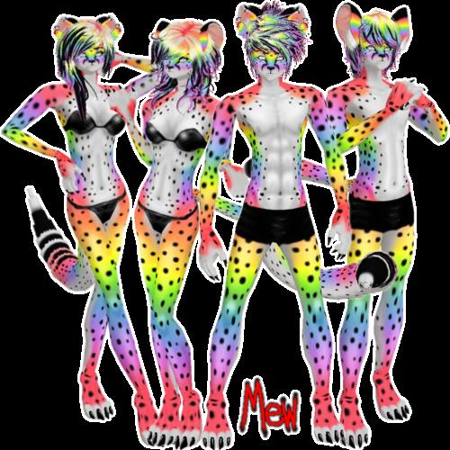 Rainbow Cheetah - IMVU Furset by lonelycard ...