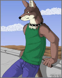 Wolf Guy Colored for iduck by xazy