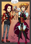 Juudai and Aki Clothes Swap for a friend~