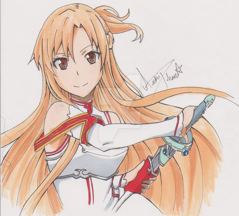 Asuna Yuuki Sword Art Online by iLuvErzaScarlet