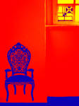stool on red