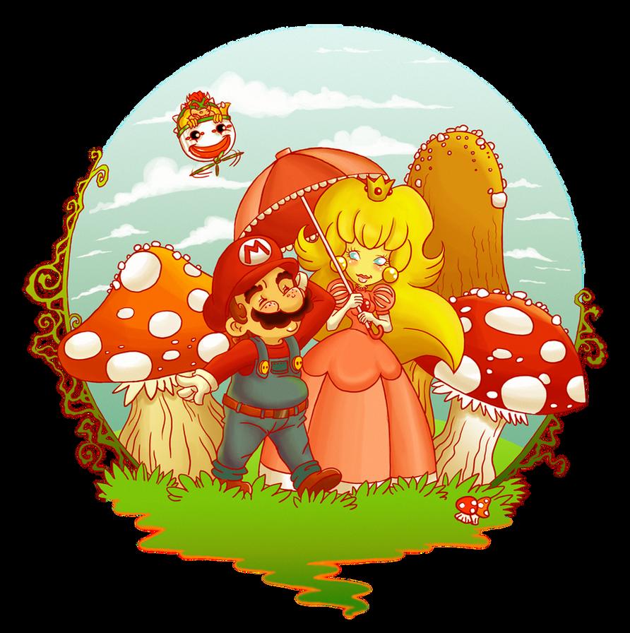 Mario and Peach by Libellchen174