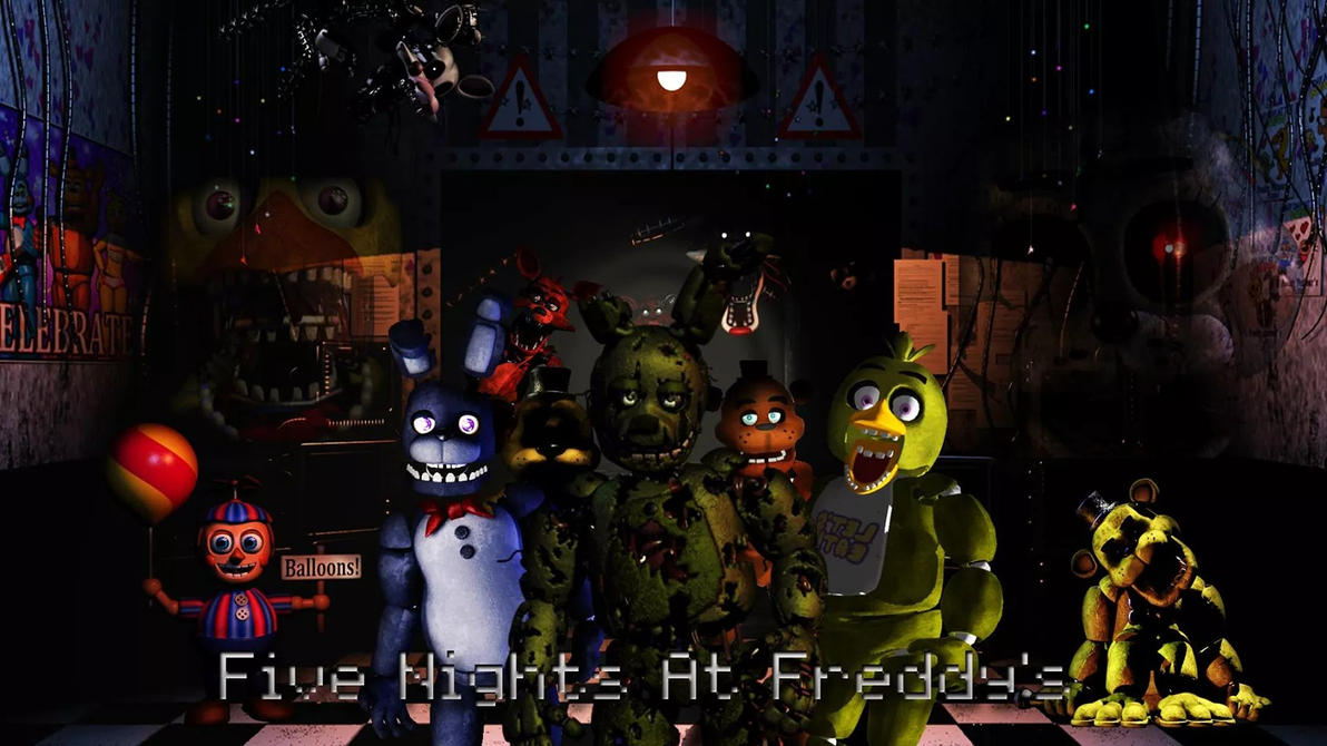 Five night at freddys wallpaper by liongraphics on deviantart