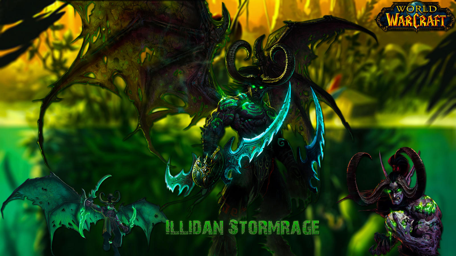 Worl Of Warcraft Illidan Stormrage Wallpaper By Liongraphics On