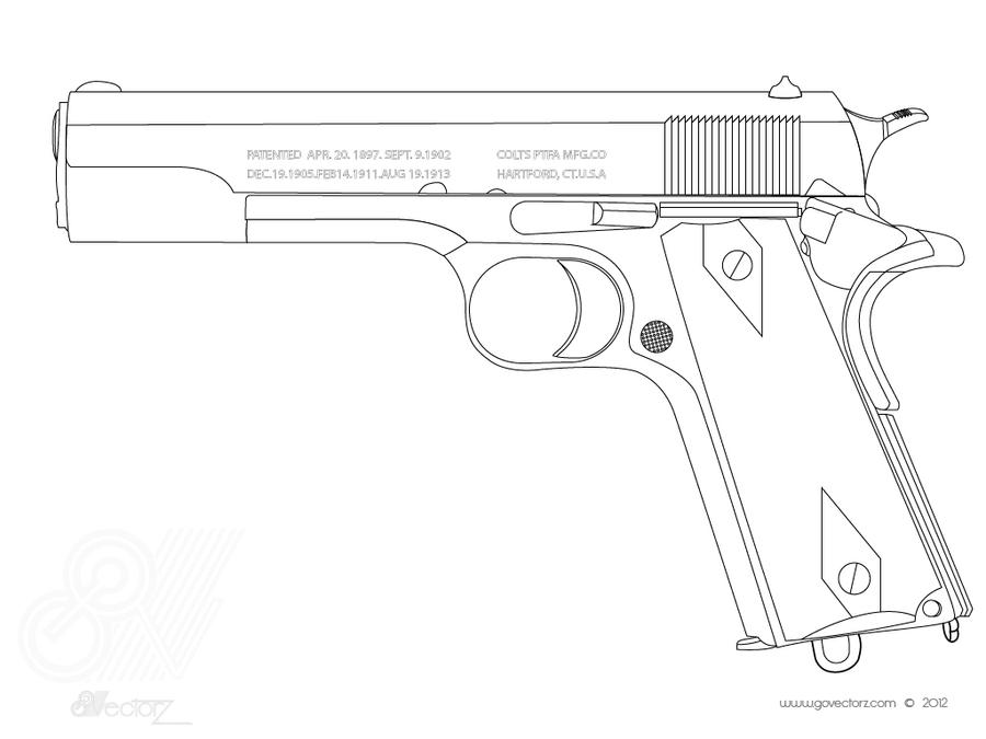Colt 1911 By Govectorz On Deviantart