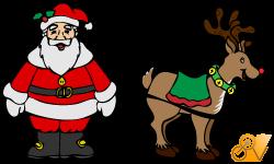 Santa and Rudloph