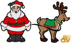 Santa and Rudloph by GovectorZ