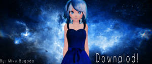 MMD TDA Galaxy Blue Miku DOWNLOAD!!