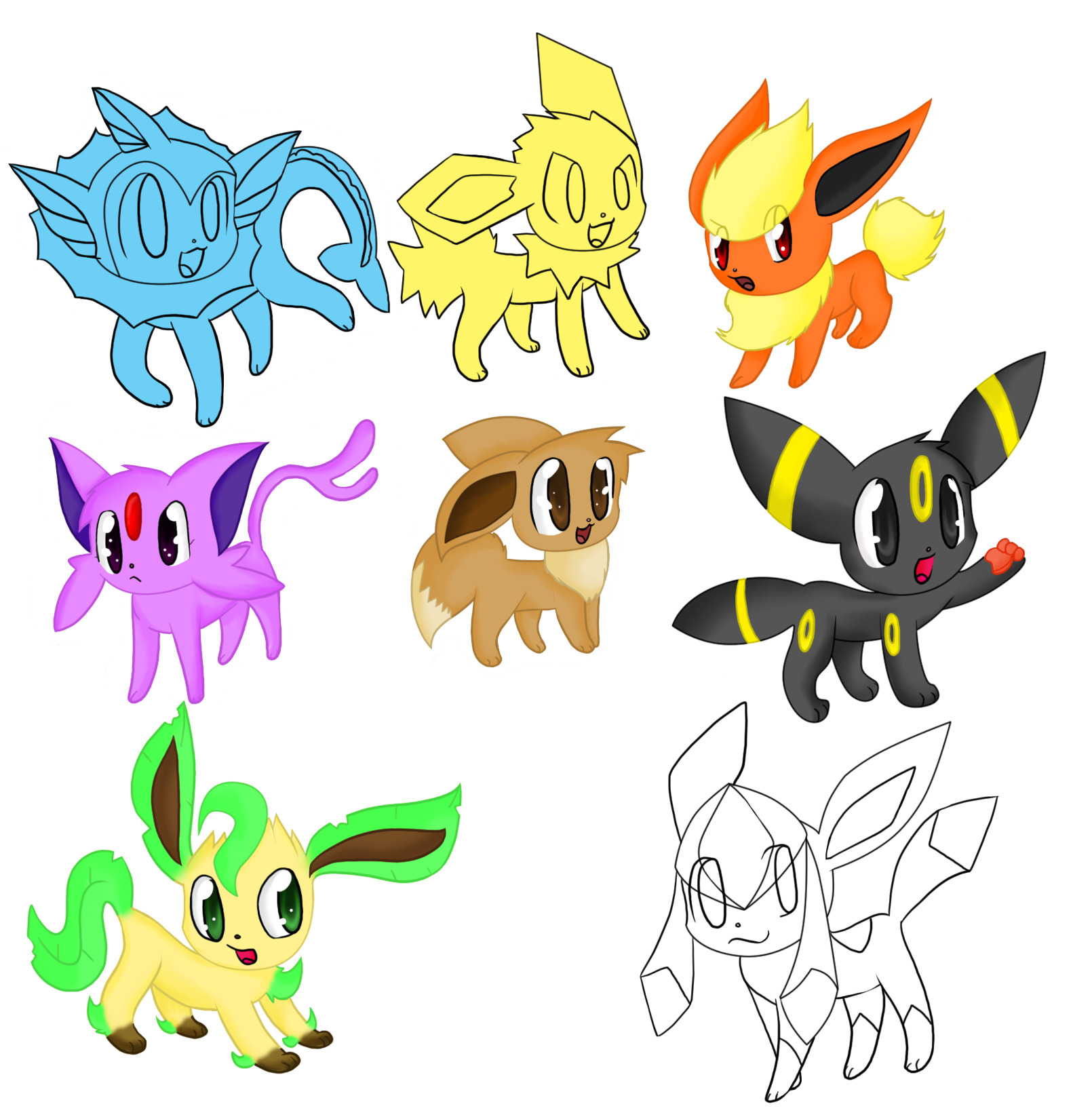 Chibi Pokemon Human Eevee Eveloutions Images | Pokemon Images