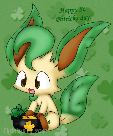 St. Paddy's day Leafeon