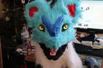 Shiny Noivern Fursuit Head WIP 2