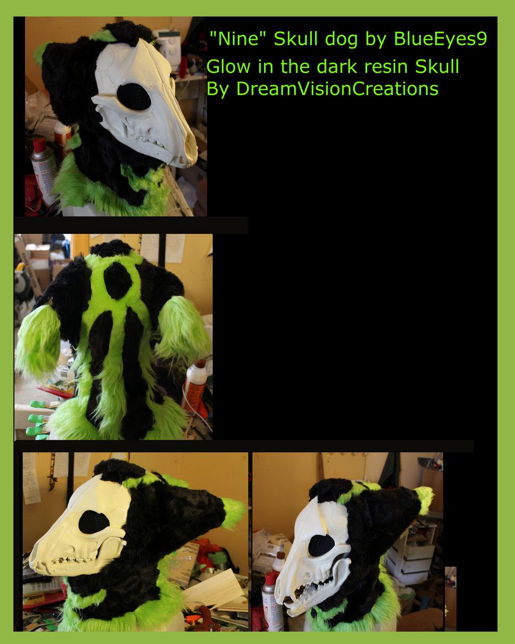 Nine of Nine Skull K9 Fursuit Mask by BlueEyes9 on DeviantArt