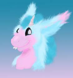 Fluffy Cotton Candie Dutch Angel Dragon by BlueEyes9