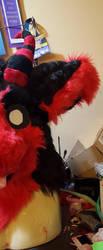 Rogue Dutch Angel Dragon Fursuit Head 2.0 Teaser by BlueEyes9