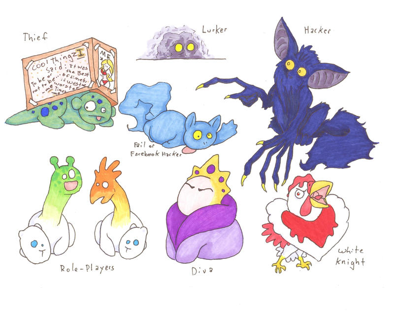 More Internet Fauna by Allison-beriyani